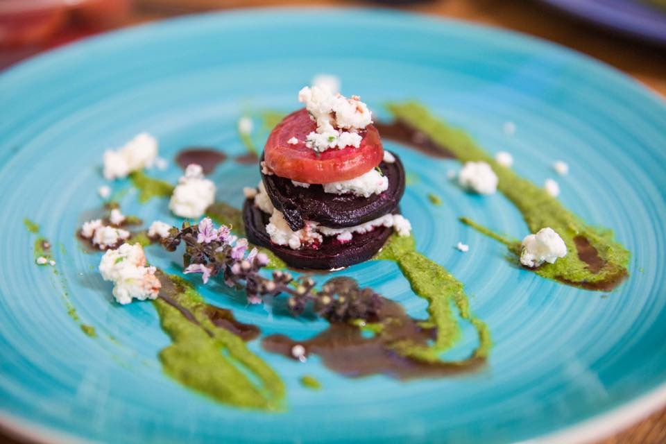 Beet and Goat Cheese Tower