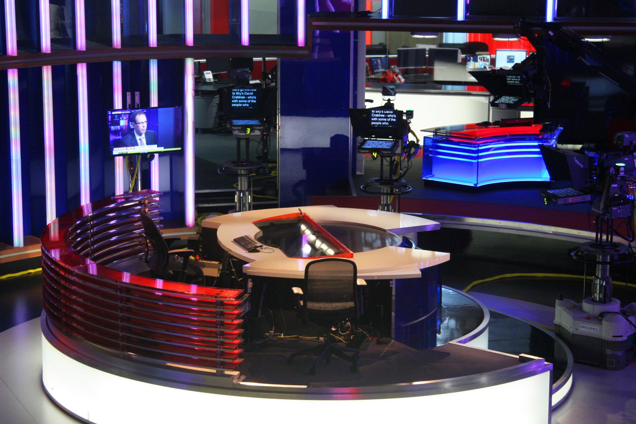 Sky News Studios in Isleworth, near London.