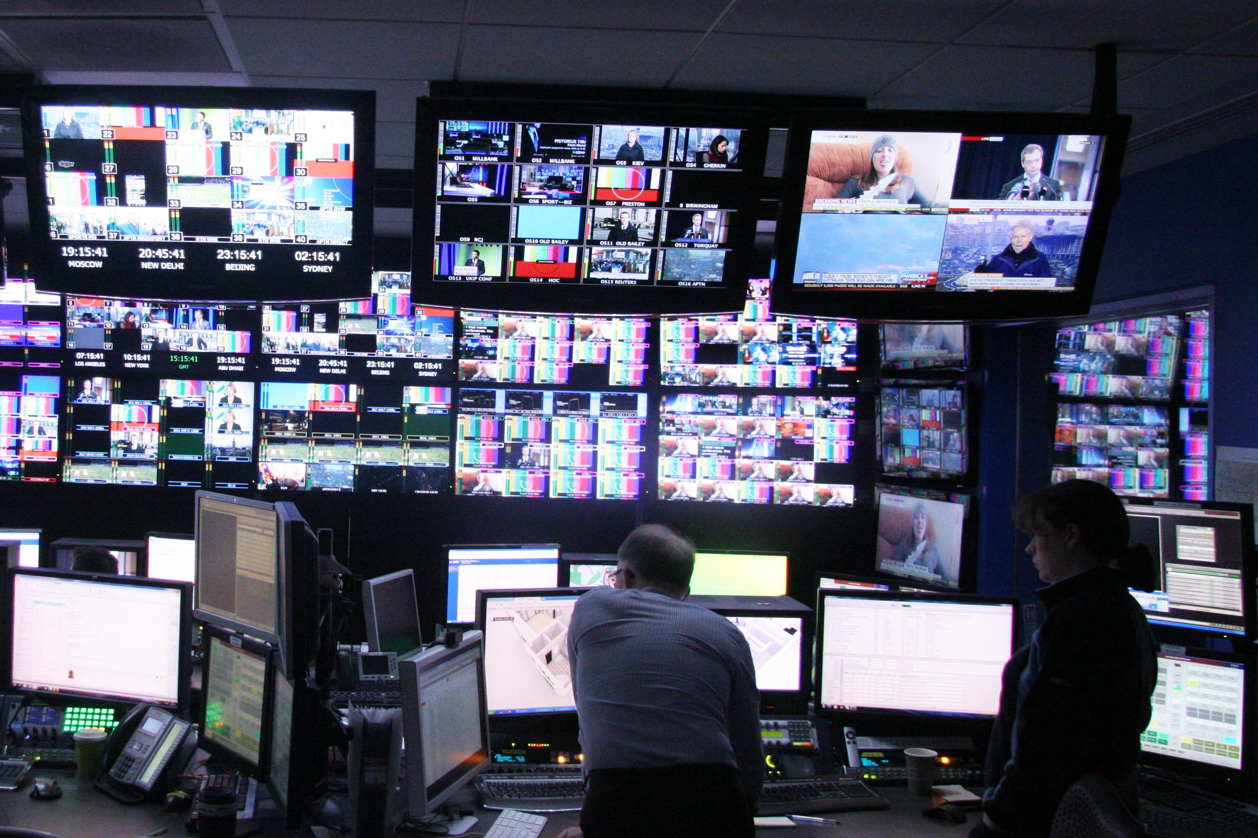 The Network Operations Centerat Sky News Studios.