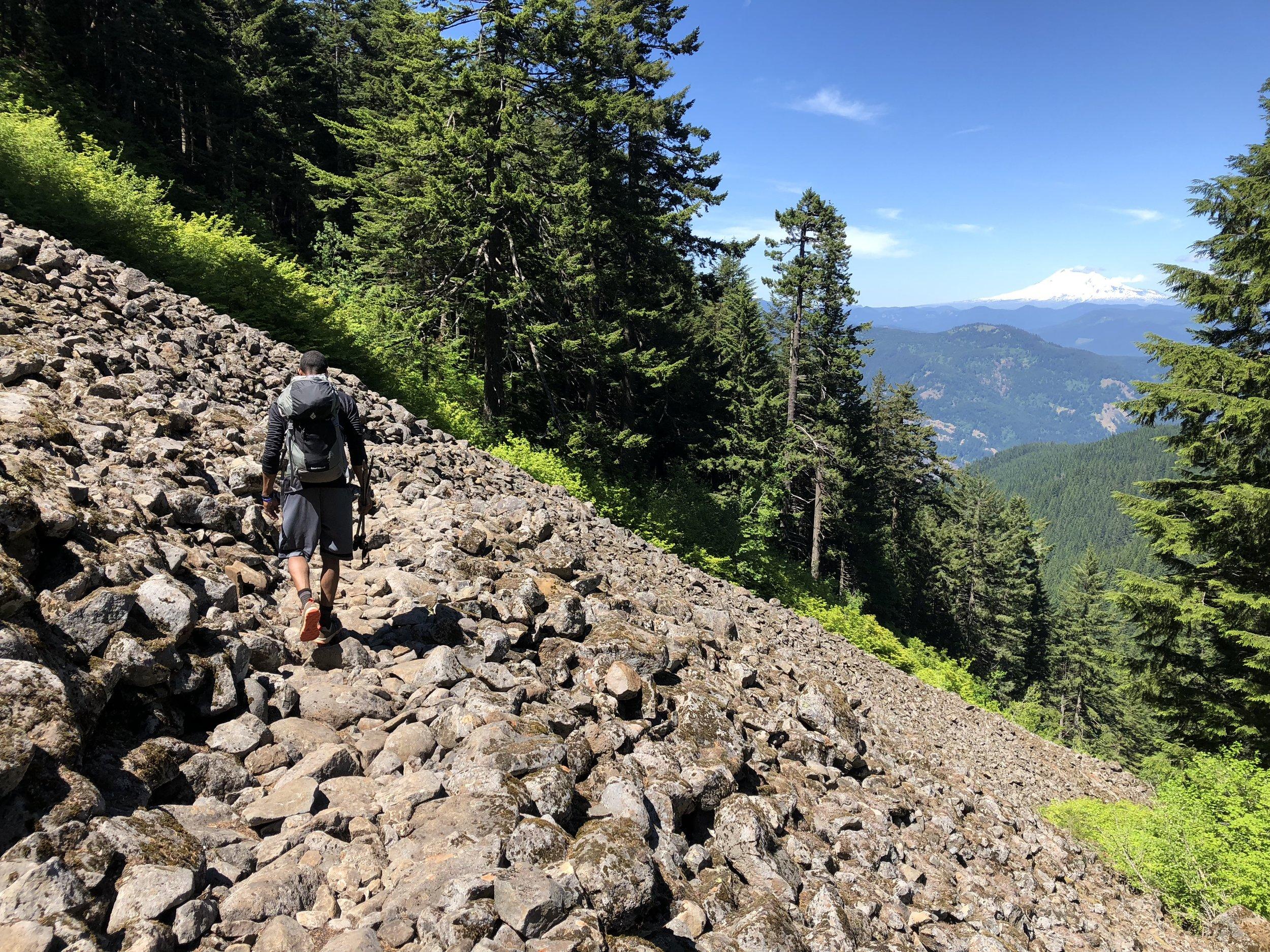 Descending Starvation Ridge.