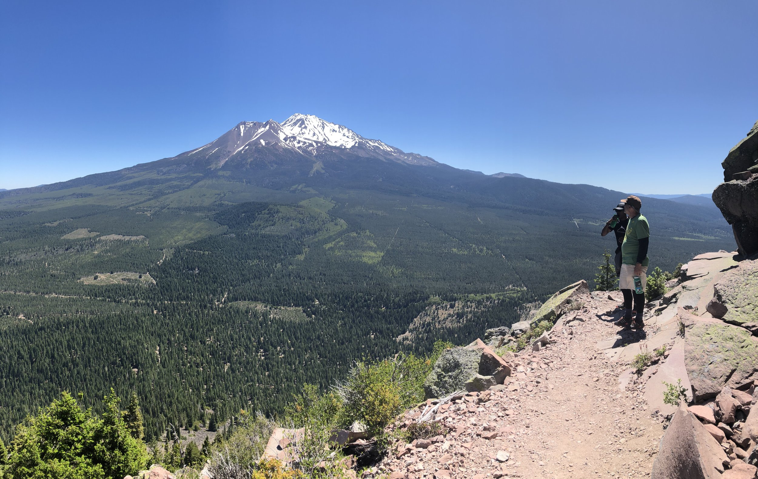 Nearing the top with Mt. Shasta in the distance.
