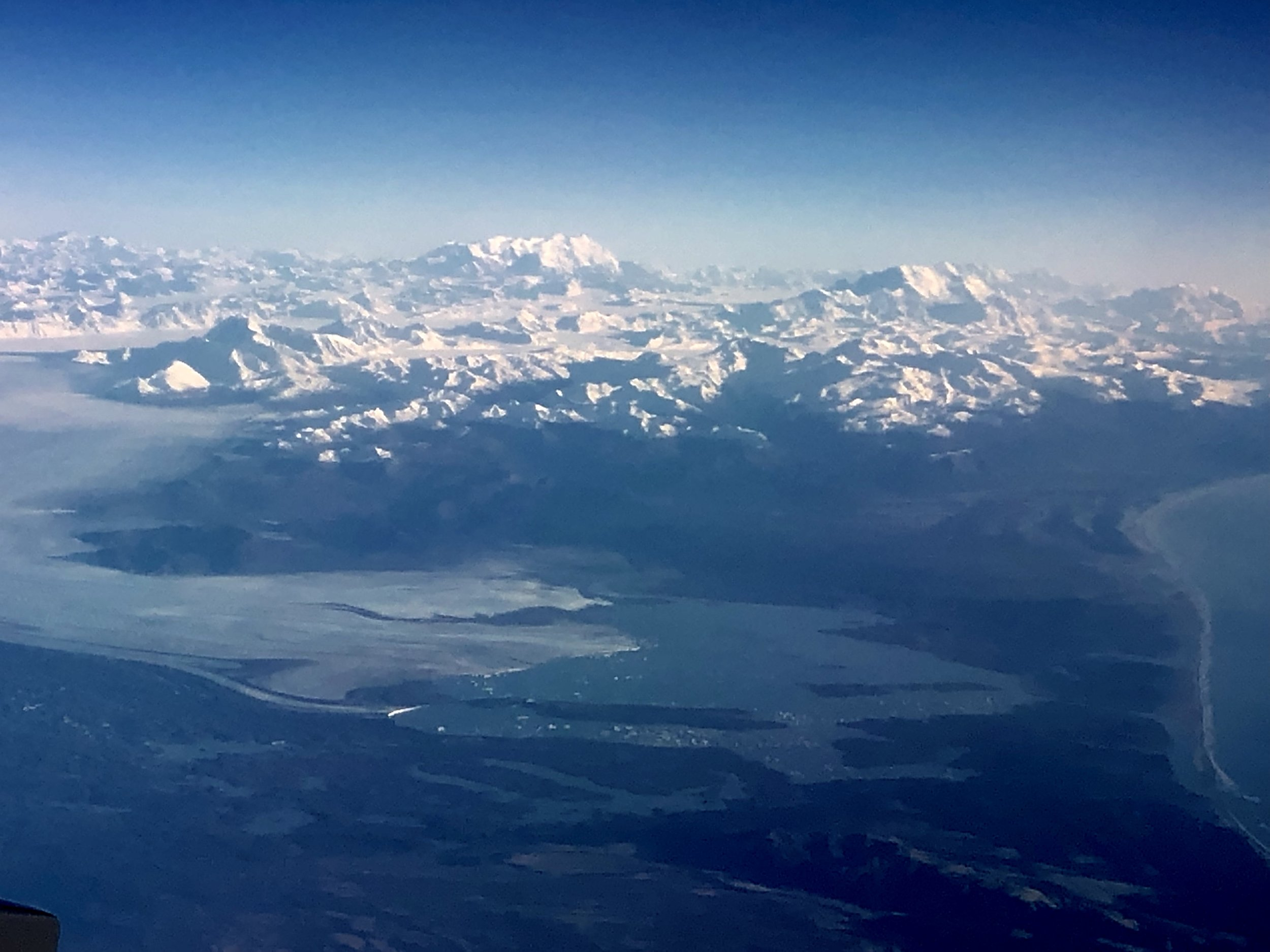 Mount Logan (left) with Mount St. Elias (right)