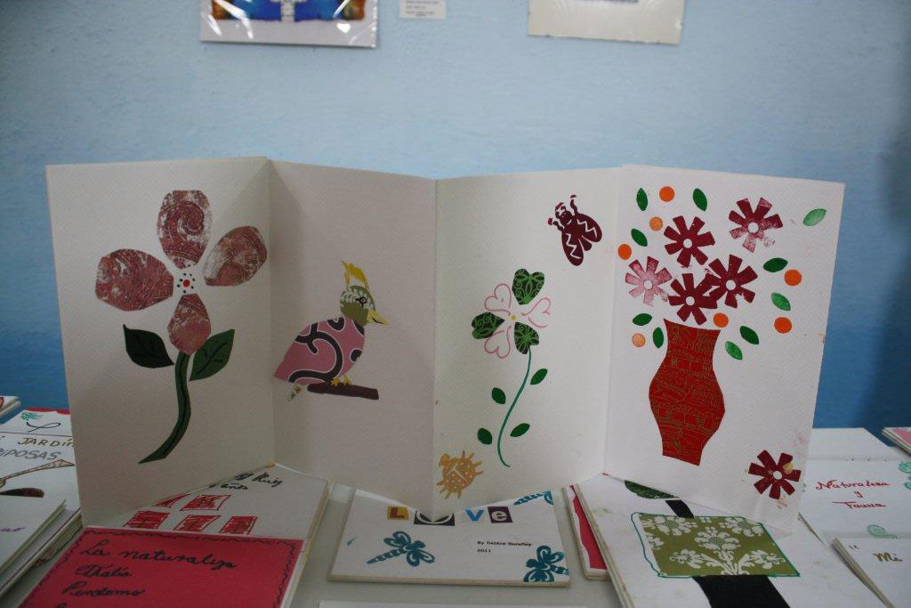 Collage accordian book from childrens workshop