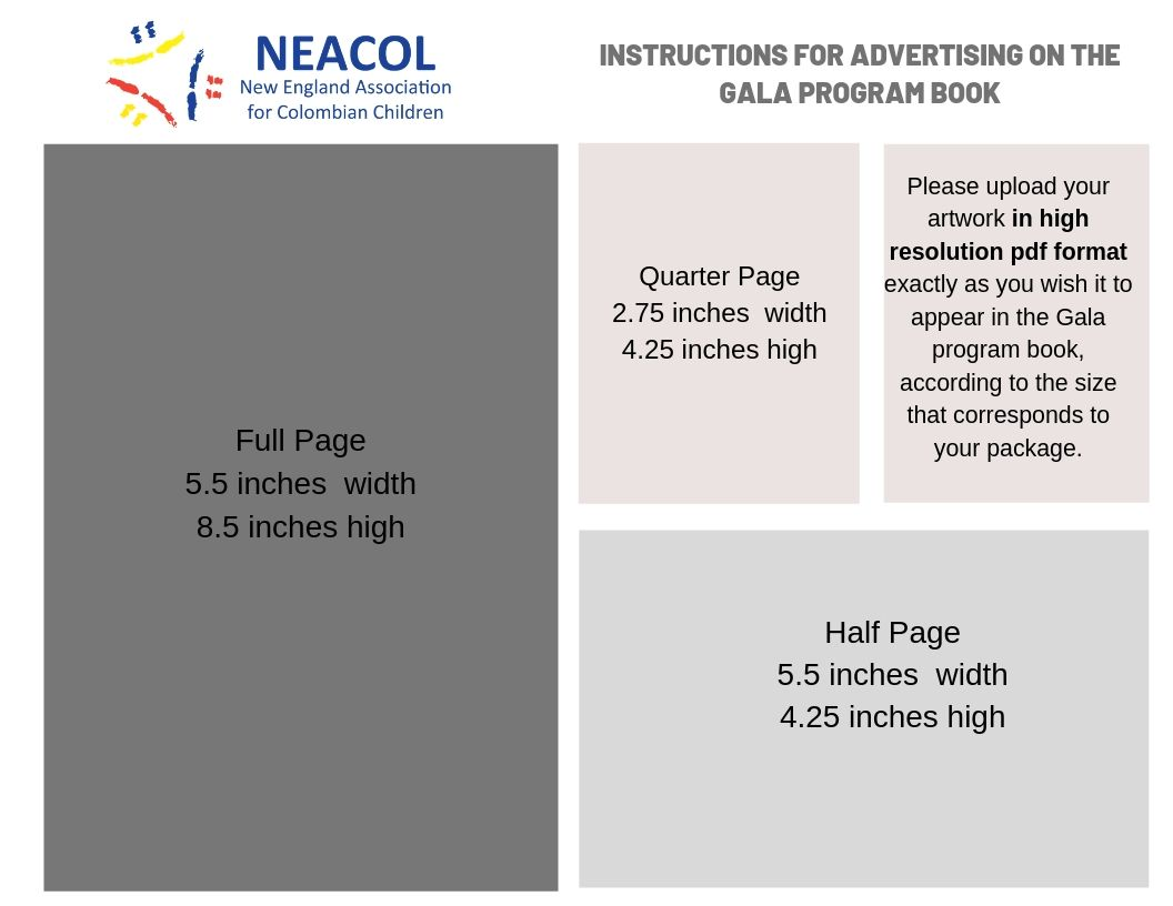 You can submit your ad as well by emailing it to : marketing@neacol.org before September 30th, 2019