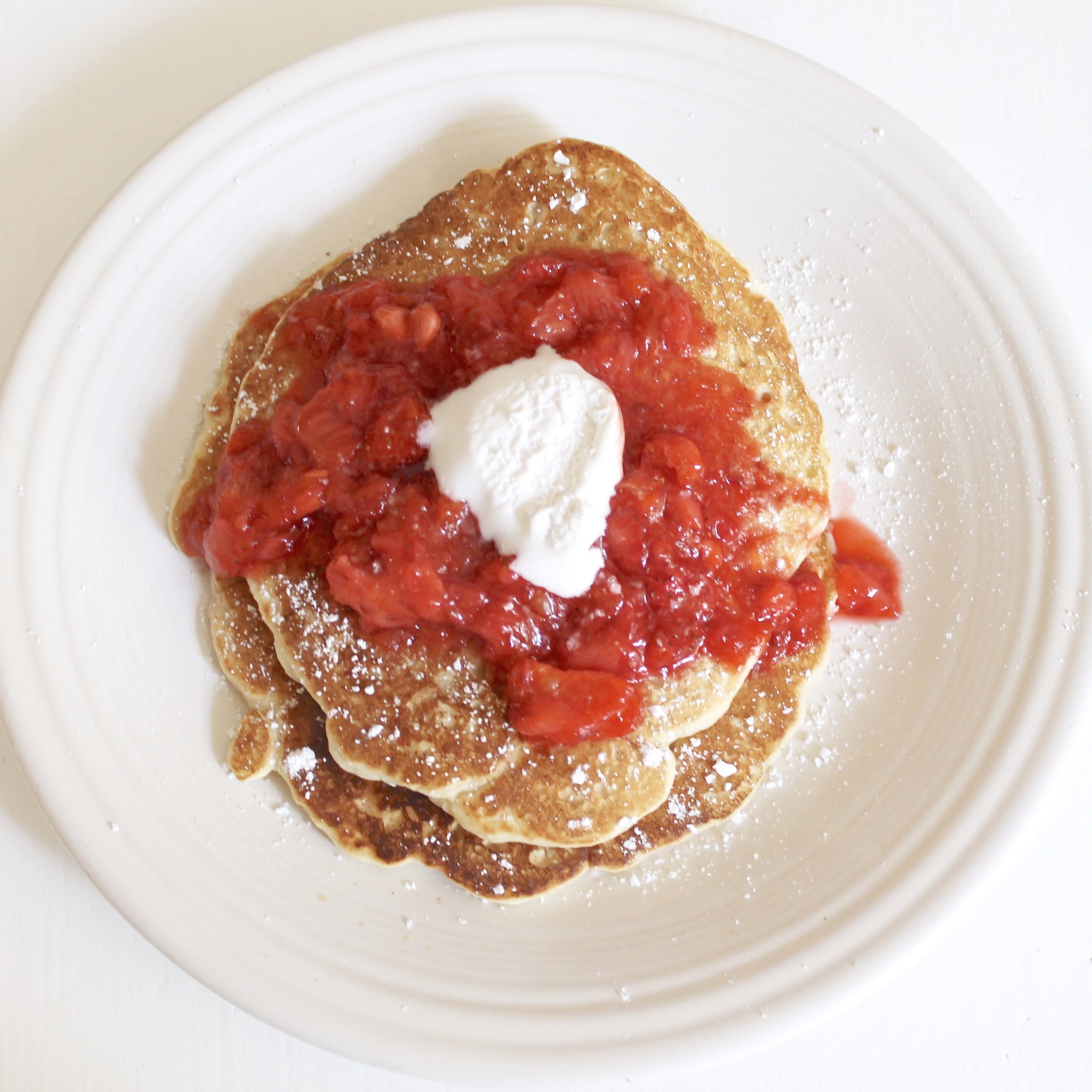 Blood Orange Strawberry Pancakes