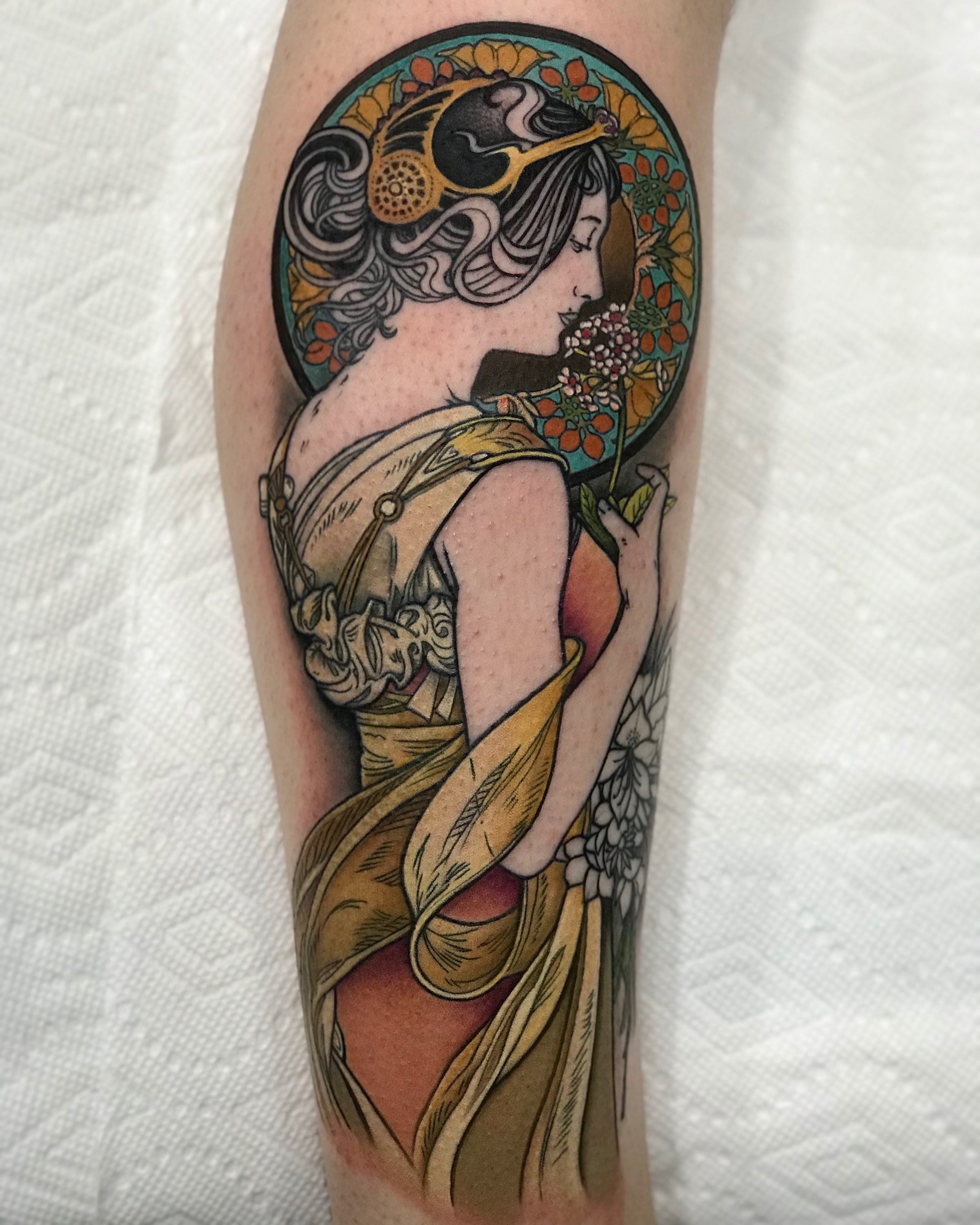 Mucha Tattoo by David Mushaney