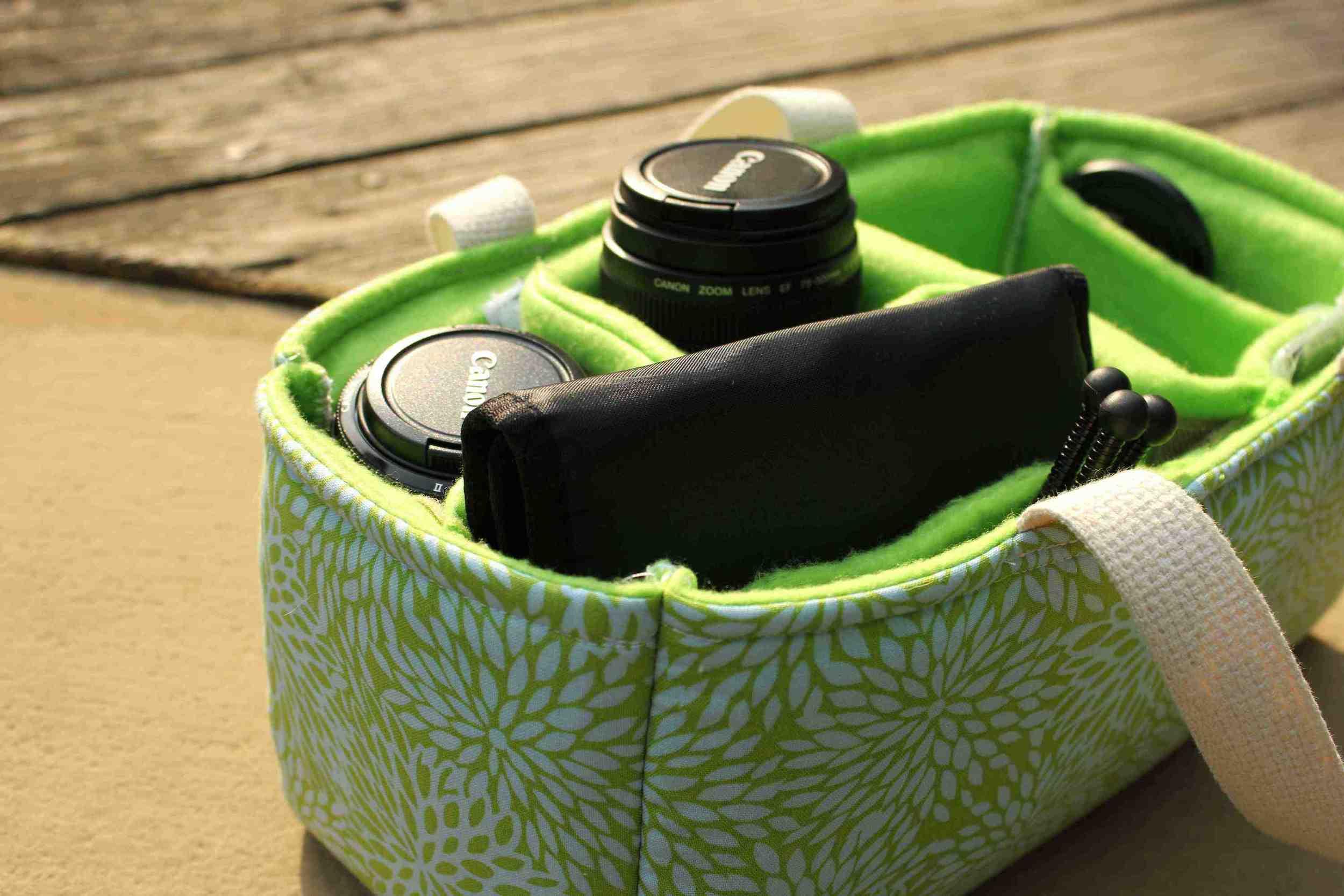 dslr camera bag   fabric, foam & felt