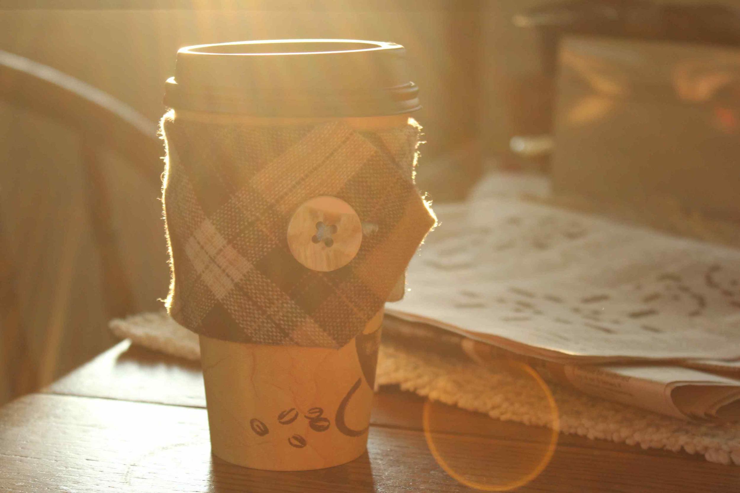 coffee koozie   wool tie compliments of pete diebolt