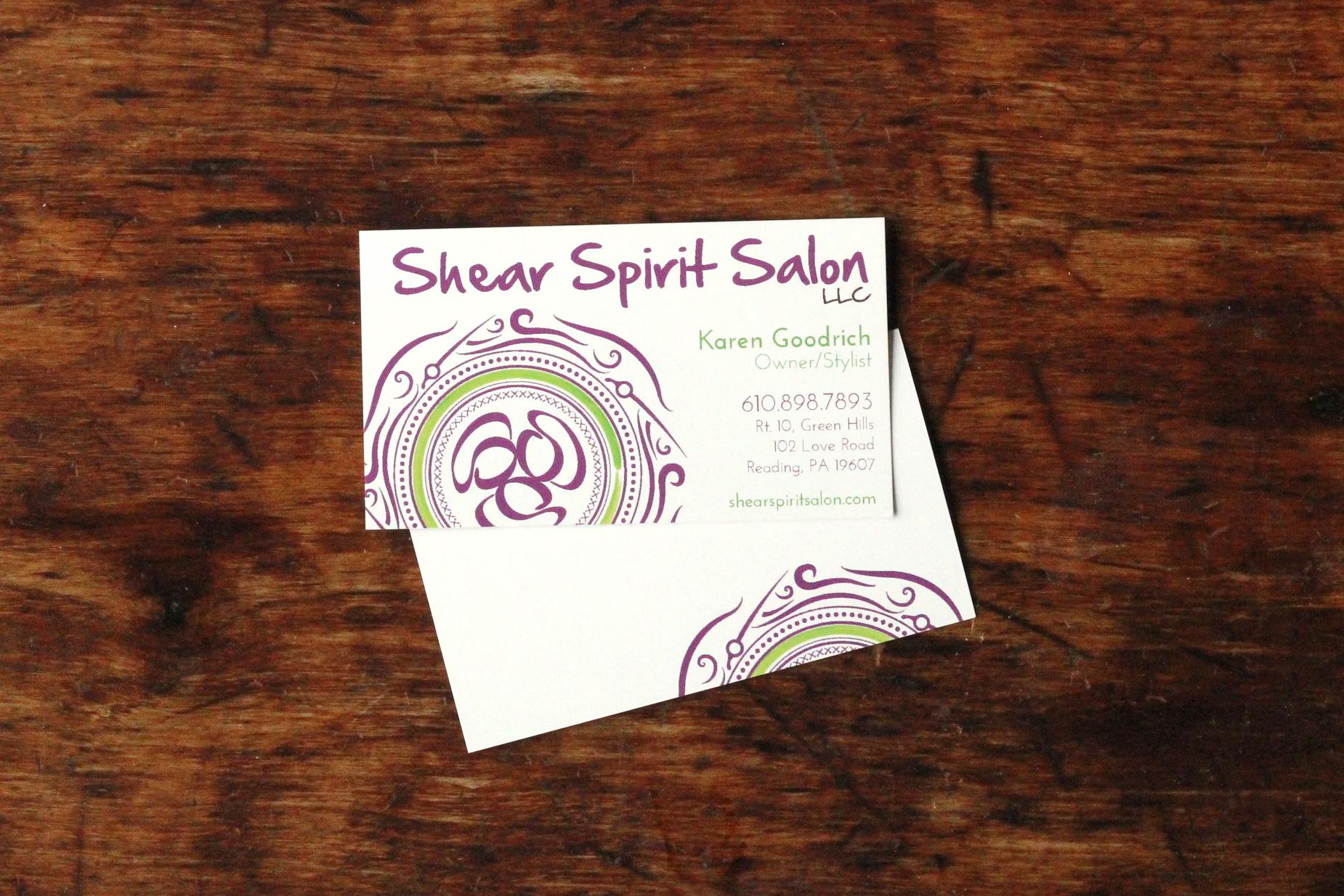 shear spirit salon | business card