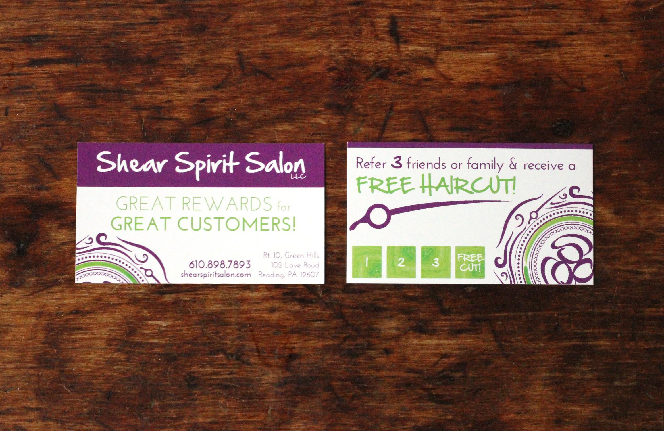 shear spirit salon | referral card