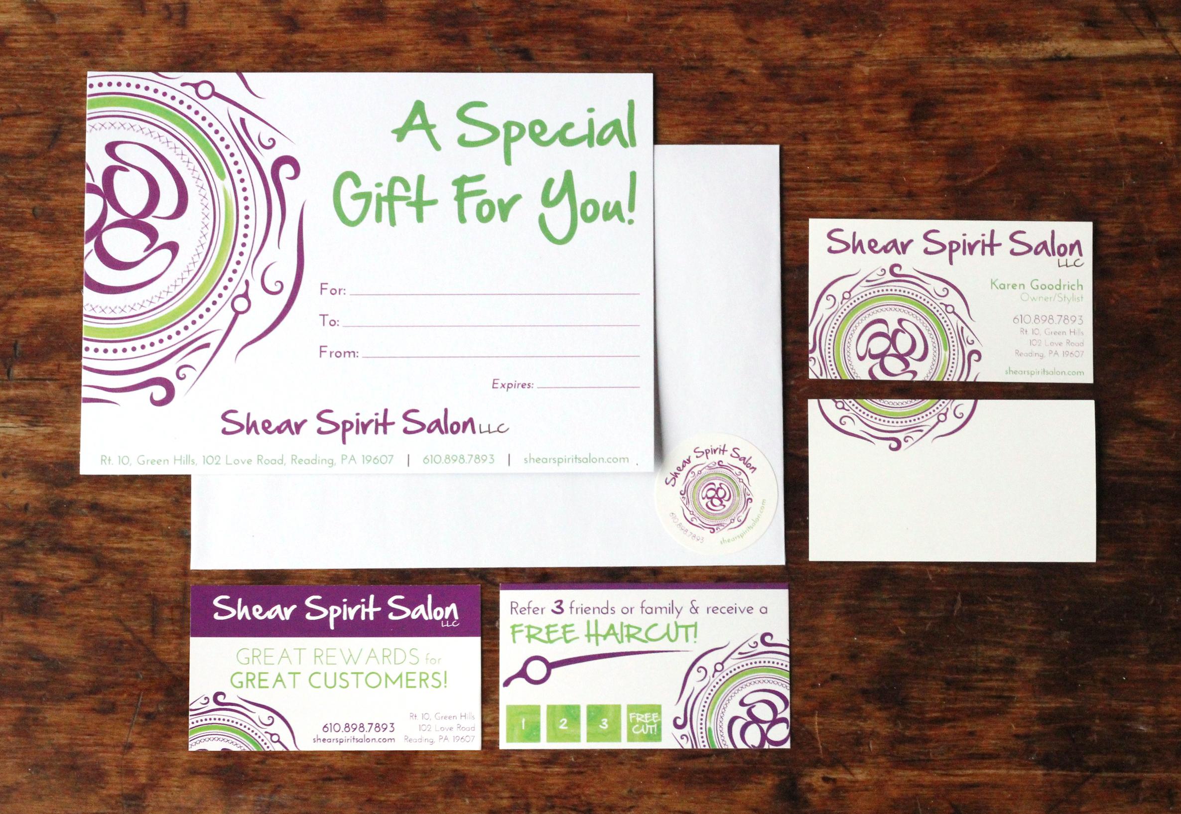 shear spirit salon | branding