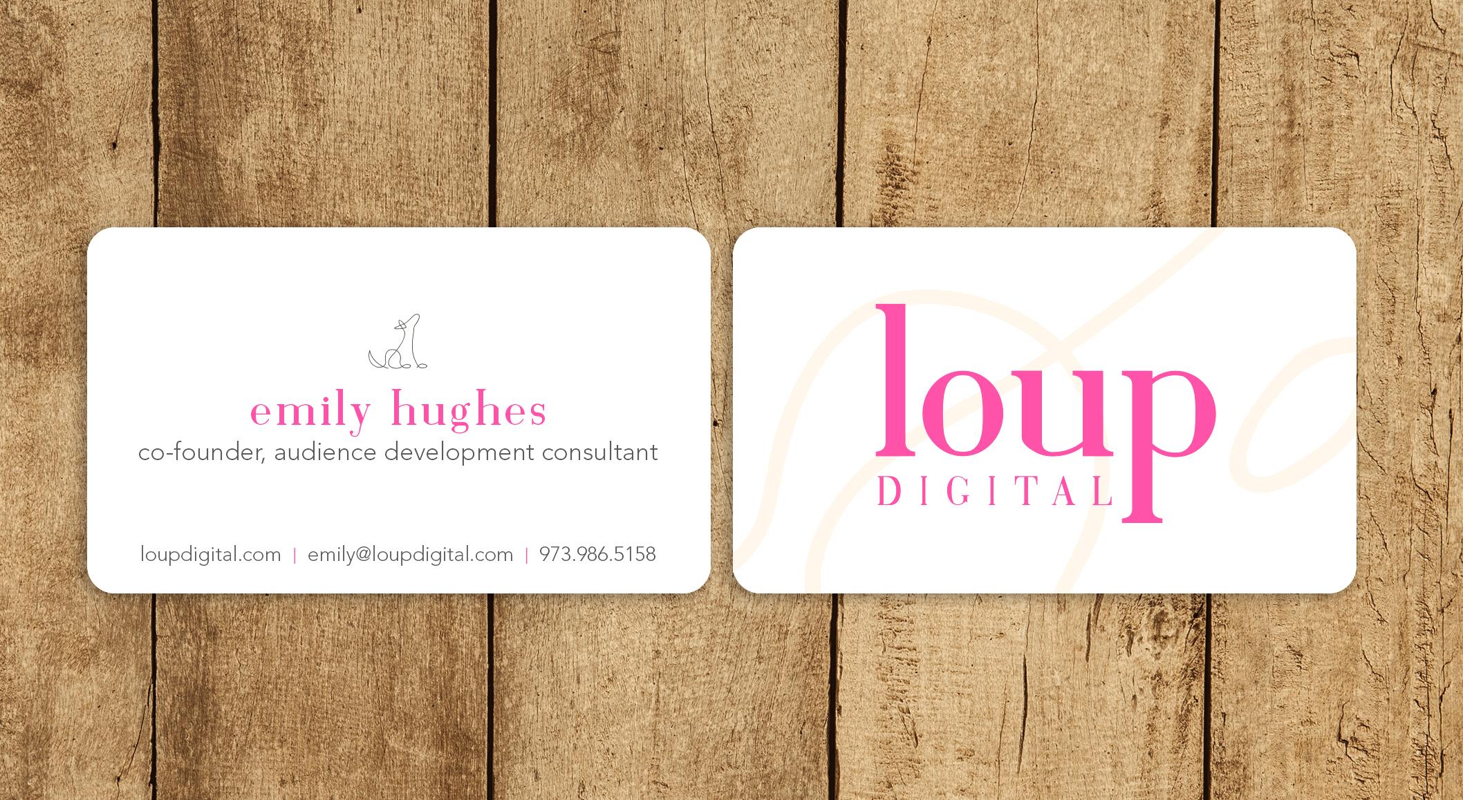 loup digital | business cards