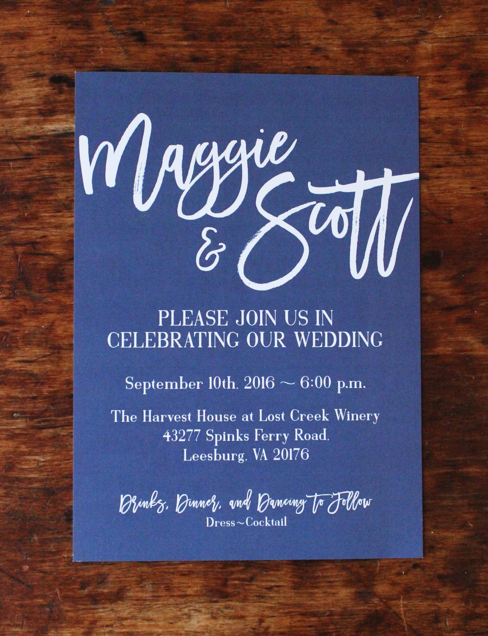 maggie & scott   invitation