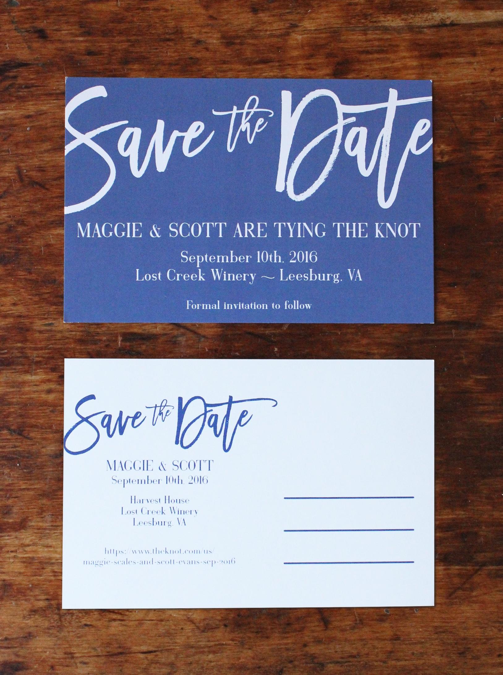 maggie & scott   save the date postcard