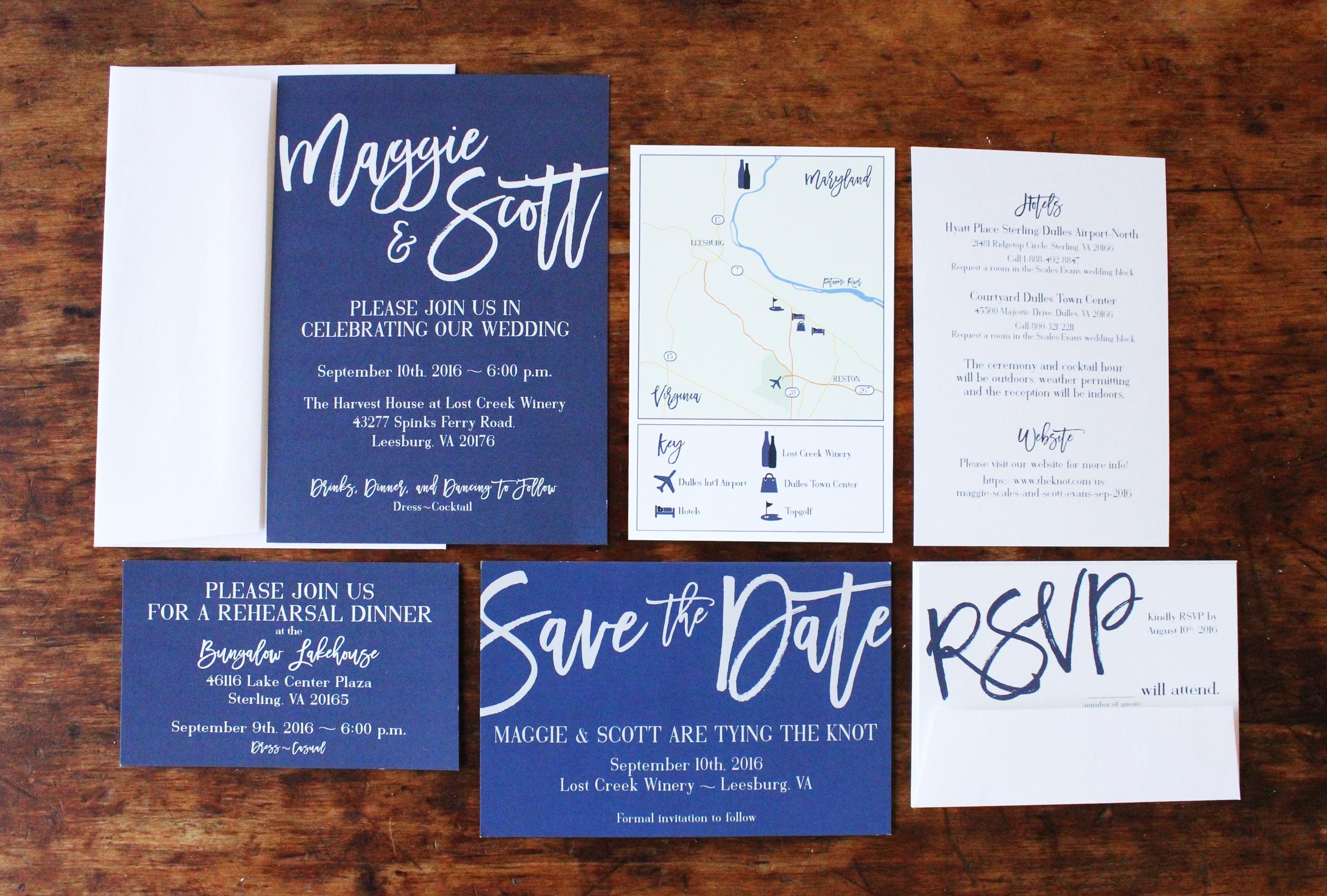 maggie & scott   invitation suite