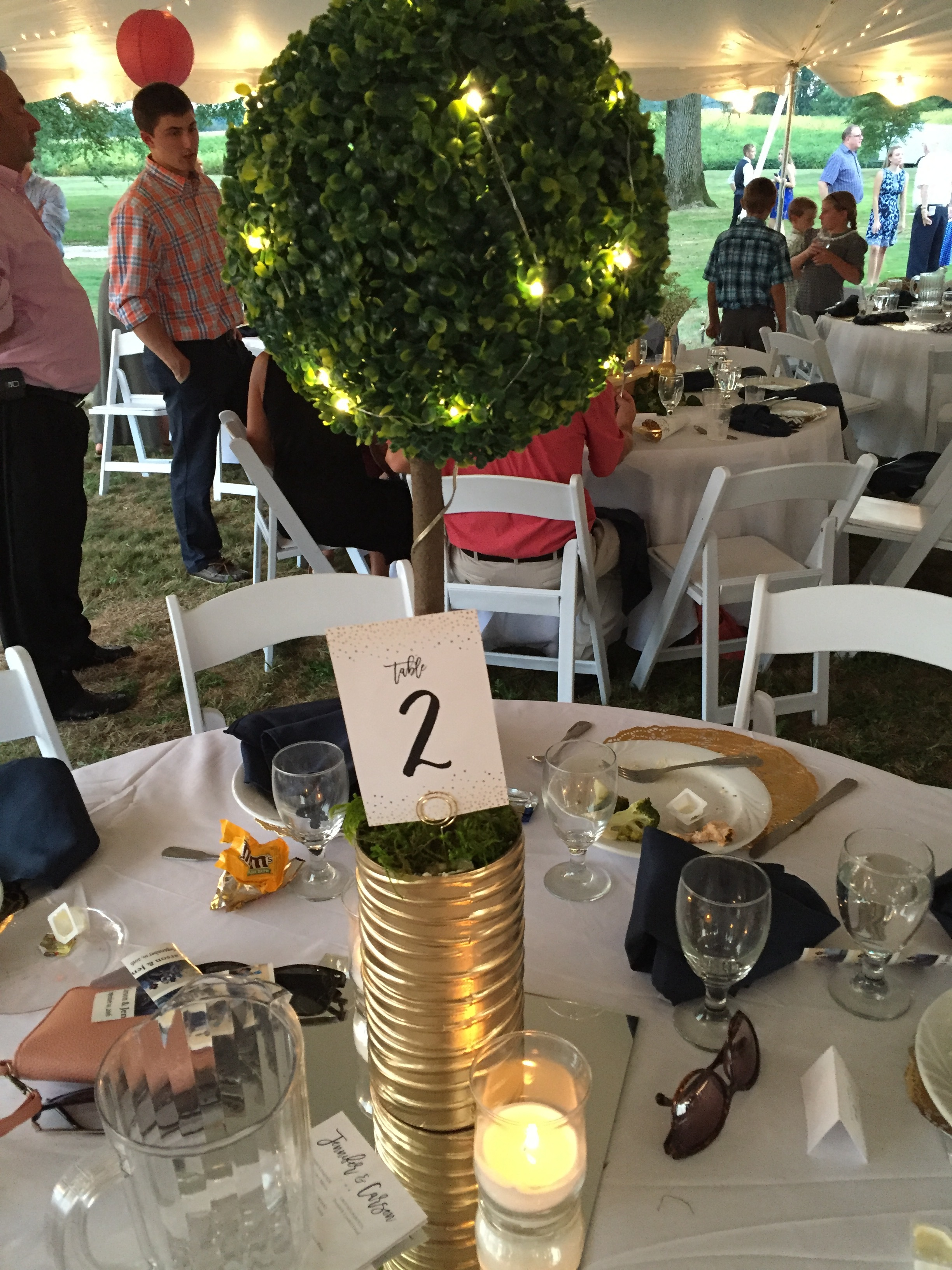 jen & carson   table numbers