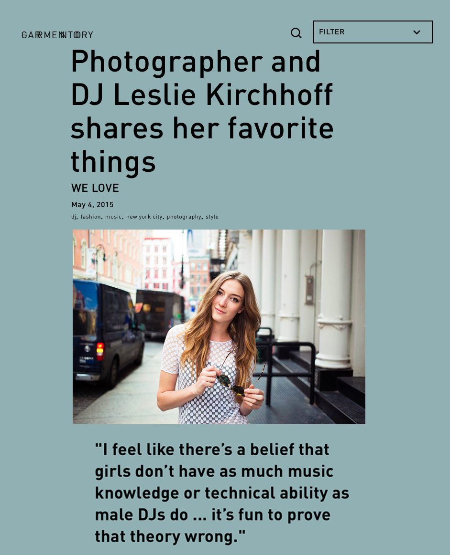 Garmentory: Photographer & DJ