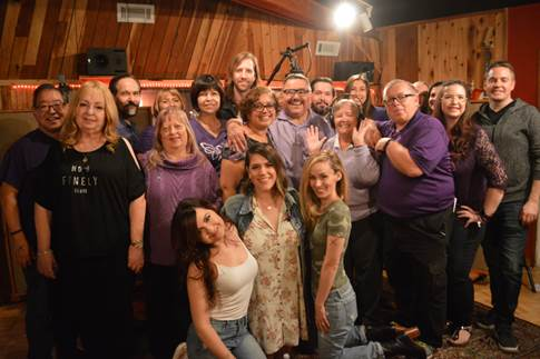 """Hope's Alive"" choir at ES Audio Recording Studios in Burbank, CA"