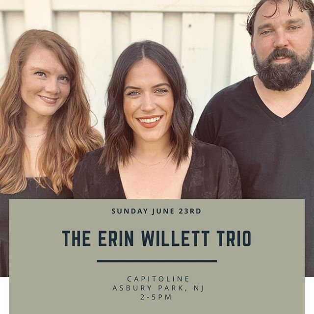 We're at it again with another Sunday Funday at Capitoline in Asbury Park, NJ! . Sunday, June 23rd//2-5pm//All Welcome//FREE . Any song requests?! We can't promise anything, but we'll take 'em! 😉