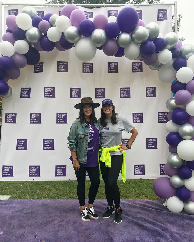 Shout out to @pancan staff & volunteers for always putting on such a stellar #purplestride . This is @applesyoranges! She is one of my favorites💜 I have worked with her on many Purple Strides and she is always on point with being a point-person 😉 . Thanks to all who donate their time and talents to cases they believe in! . #purplestride #pancan #purple #pancreaticcancer
