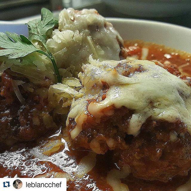 #nomnom #eatlocalslc #utahfood #utahisrad #dinner #toscanodraper #chefleblanc #foodporn #italian #meatballs #