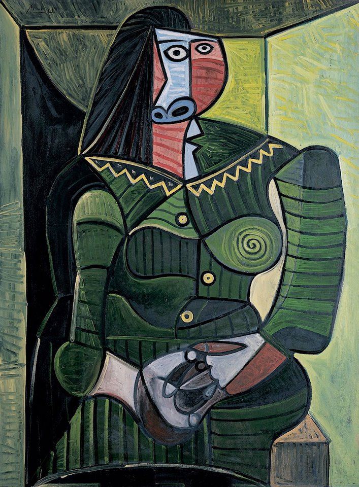 Pablo Picasso. Woman in Green , 1943
