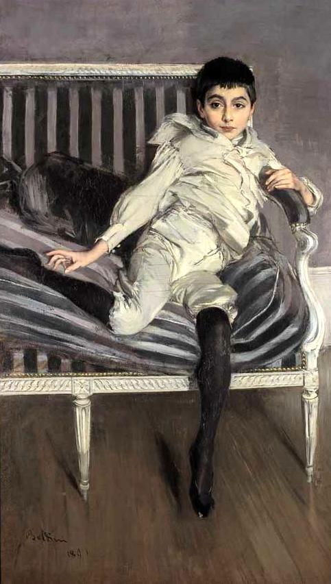 Giovanni Boldini.  Portrait of the Young Subercaseaux , 1891