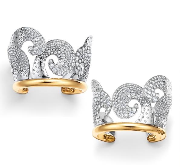 Tiffany & Co. Diamond cuff bangles, 2015