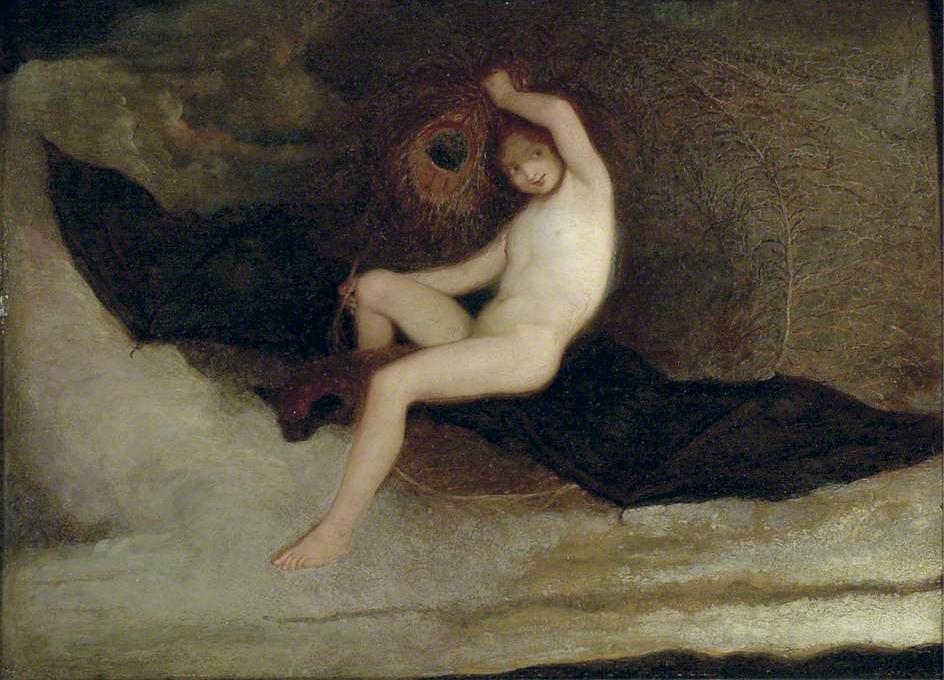 Joseph Severn.  Ariel Riding OnA Bat , c. 1830