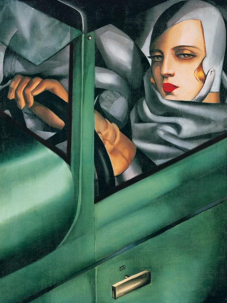 Tamara de Lempicka.  Self Portrait in a Green Bugatti , 1929