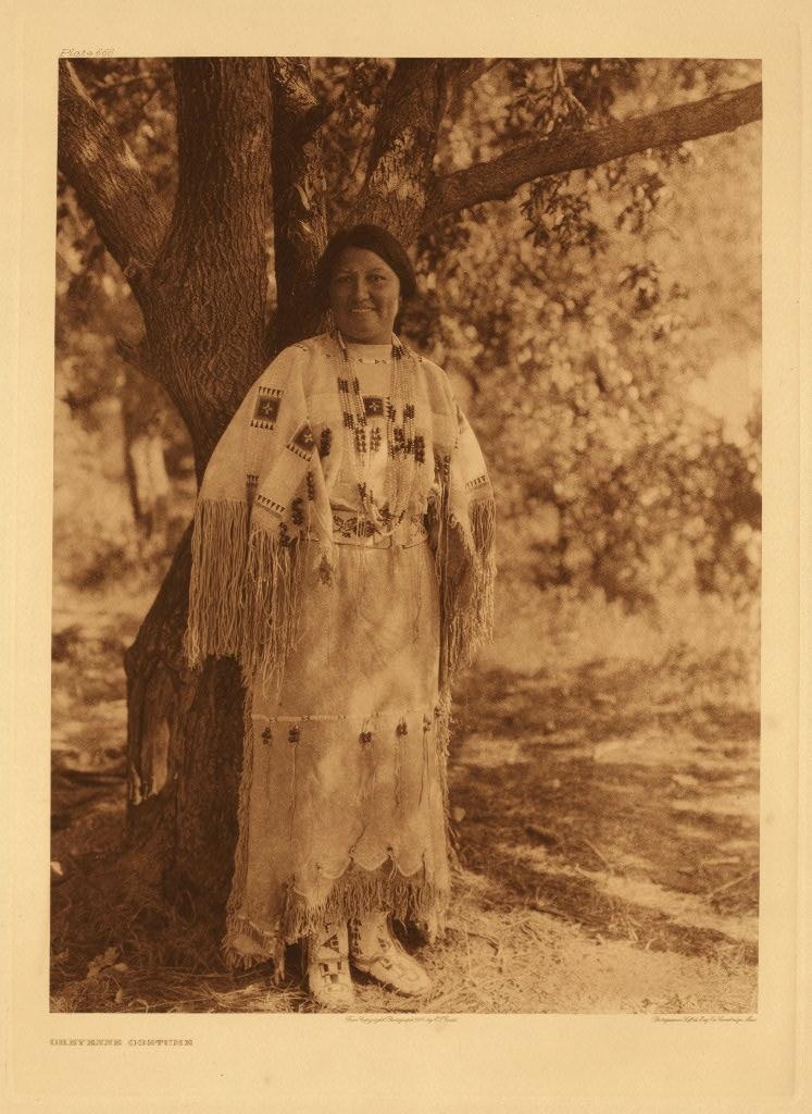 Edward S. Curtis.  Cheyenne Costume , c. 1930