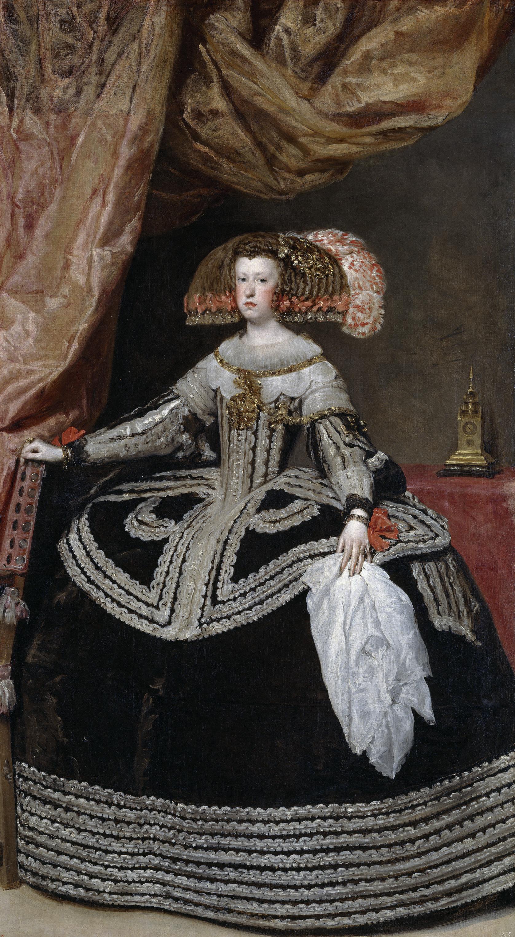 Diego Velázquez.  Mariana of Austria, Queen of Spain , c. 1652