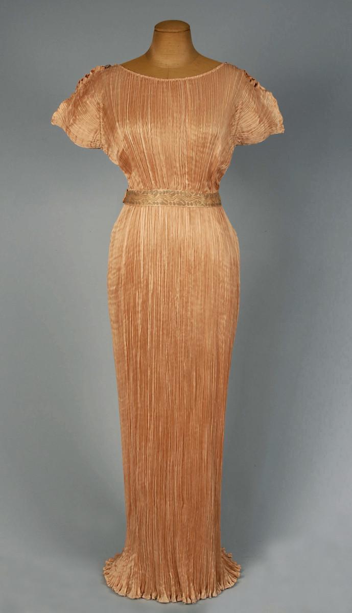 Mariano Fortuny.  Delphos Dress , c. 1910-1930