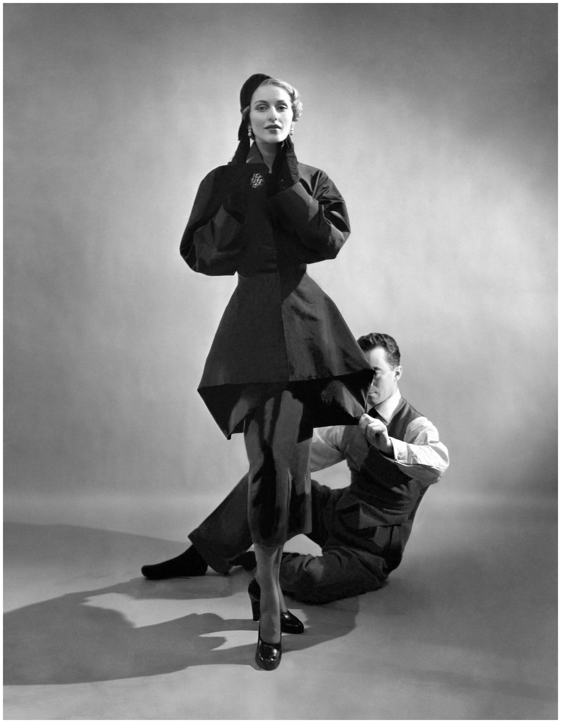 Cecil Beaton.  Charles James with Model , 1948