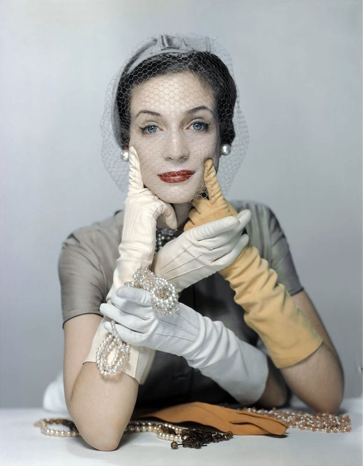 Erwin Blumenfeld (for  Vogue ).  Girl with Gloves , 1949