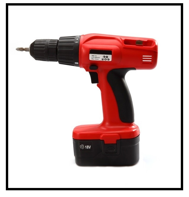 Isolated power tool in red