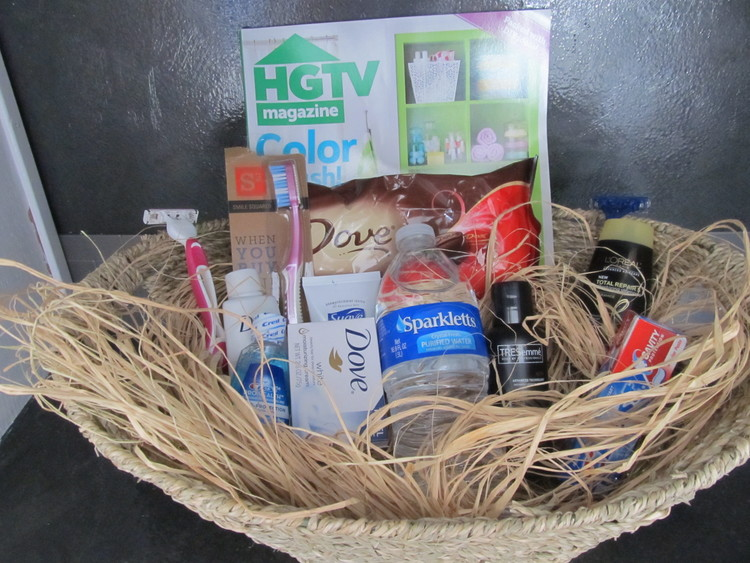 Goody basket for your guests!