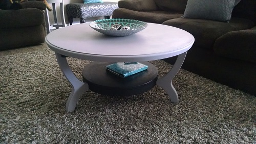 Coffee table purchased at Goodwill for $30 a while ago.