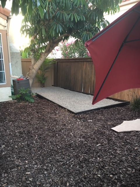 After both layers of rock have been added and leveled - project complete!