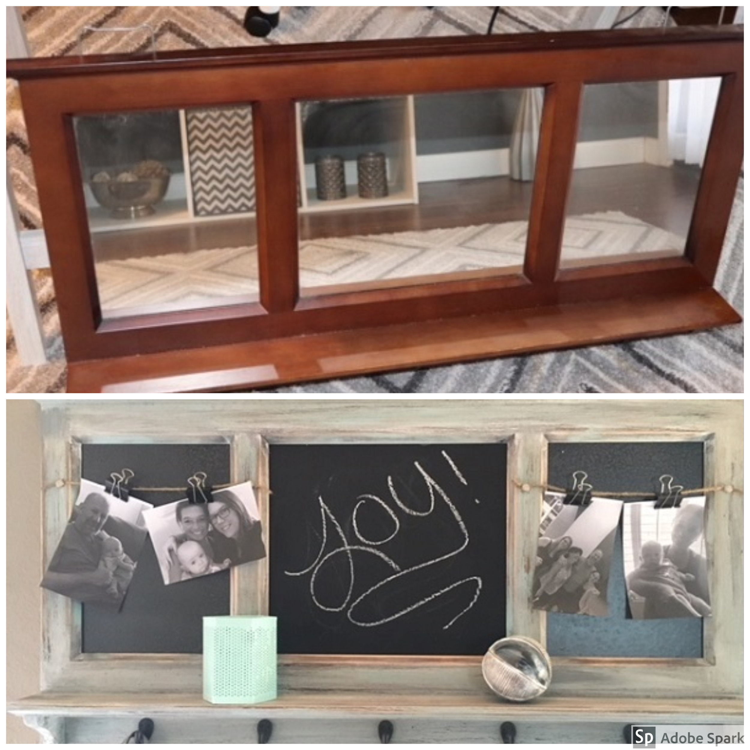 One final before and after. We love how the piece came out and the price was sure right!