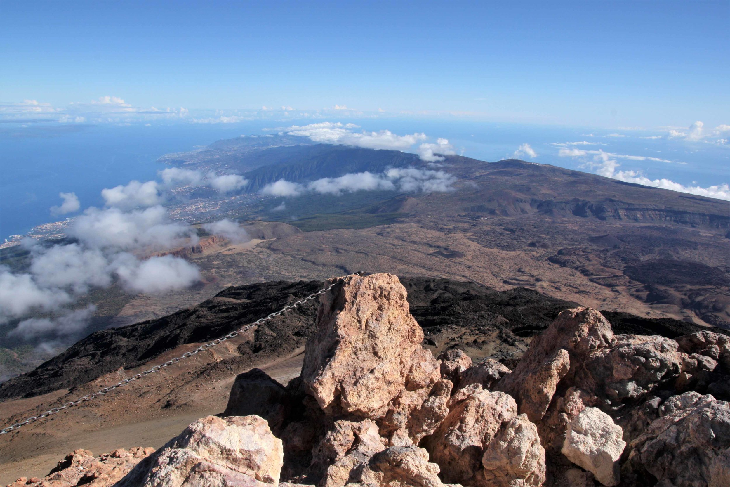 View northeast across Tenerife, Canary Islands, from Pico del Teide.