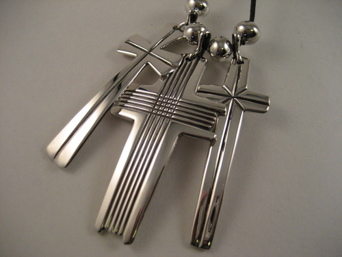 Classic Triple Cross pendant