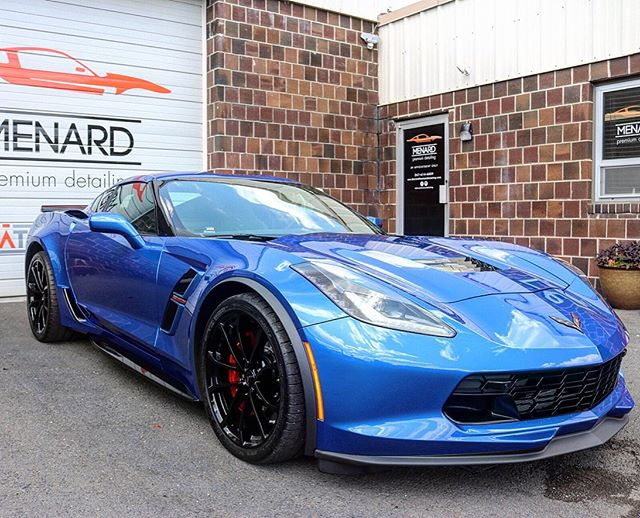 Where do I even start with this car?! Our awesome client Carol has saved up her whole life to buy this Brand new 2019 Corvette Gran Sport! She came in just for a coating but received so much more. We laid @xpel paint Protection Film on the hood, bumper, fenders, mirrors, rockers, door sills, and around the rear quarter panel. Following the PPF we corrected all the dealership imperfections and ceramic coated it with @cquartzprofessional. She is GLOSSSSYYYYY!!! Time for Carol to go rip up the roads and get some speeding tickets! . . . . The Crew: @gratr.motion @gratr.garage @gratrgaragecarclub @nolifecompany @spicywrx @a1_garage #MenardAutoDetailing #AdamsPolishes #CarPro #CQuartz #CQuartzProfessional #CQuartzFinest #Gtechniq #CrystalSerumUltra #DetailingWorld #DetailersOfInstagram #Detailing #CarCare #DetailingDoneRight #DetailersWorld #BucksCounty #CarWash #CarDetail #CeramicCoating #Spotless #PaintCorrection #PaintProtection #ShineSandwich #Tinting #Elite #CoatingsDoneDaily #DetailersDen