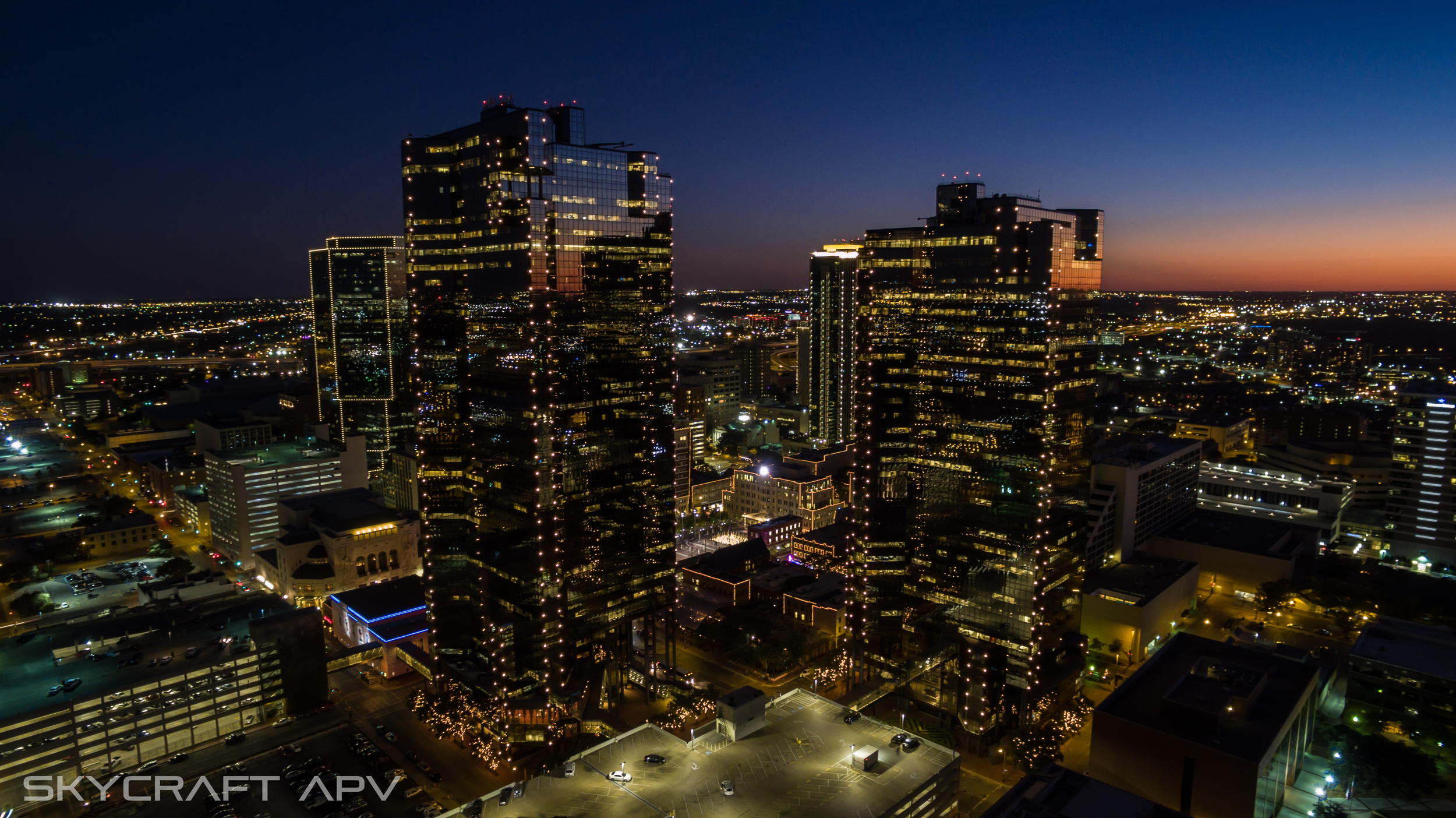 Downtown Fort Worth, TX Aerial photography and video