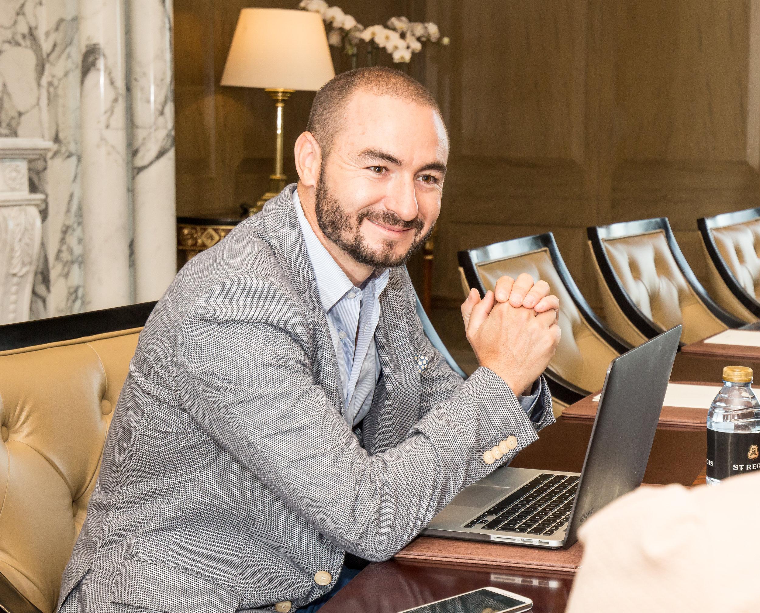 IBM's Digital Transformation Leader for Middle East and Africa Juan Jose De La Torre Image location courtesy of St. Regis Dubai