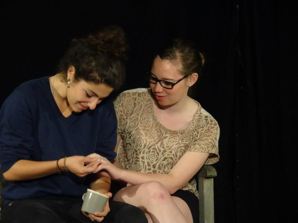 """""""Proof"""" (2012 Edinburgh Fringe Festival) Directed by John-Michael Sequeira and Lindsay Carpenter  Catherine (Melis Aker) and Claire (Kira Patterson)"""