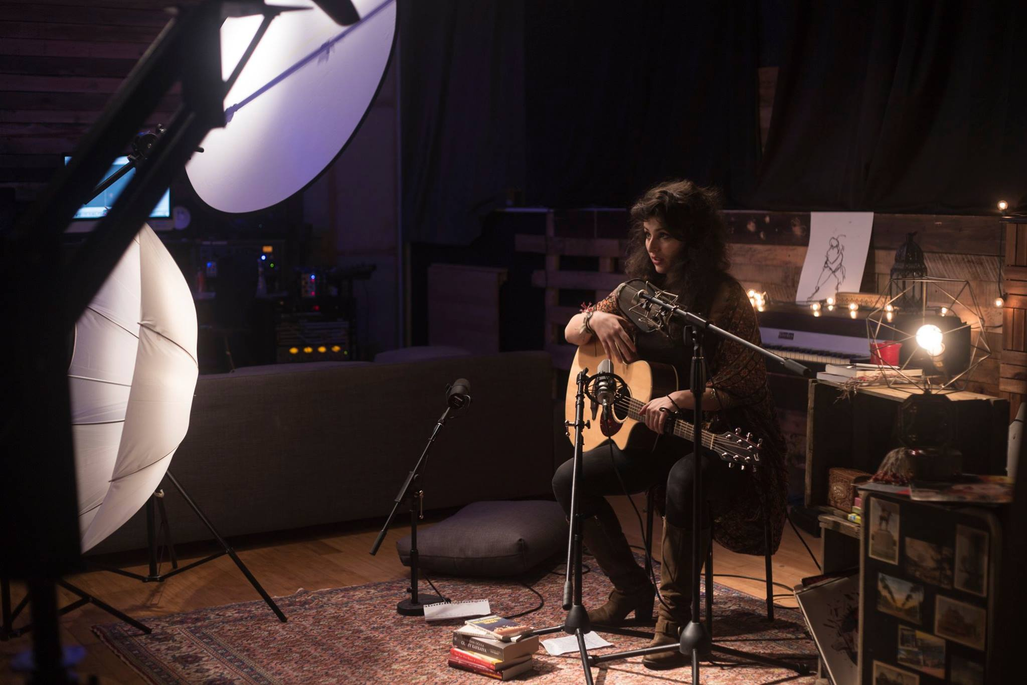 """Recording and shooting the music video for """"Anasozu"""" for the upcoming full length albumat Studio 42, Brooklyn."""