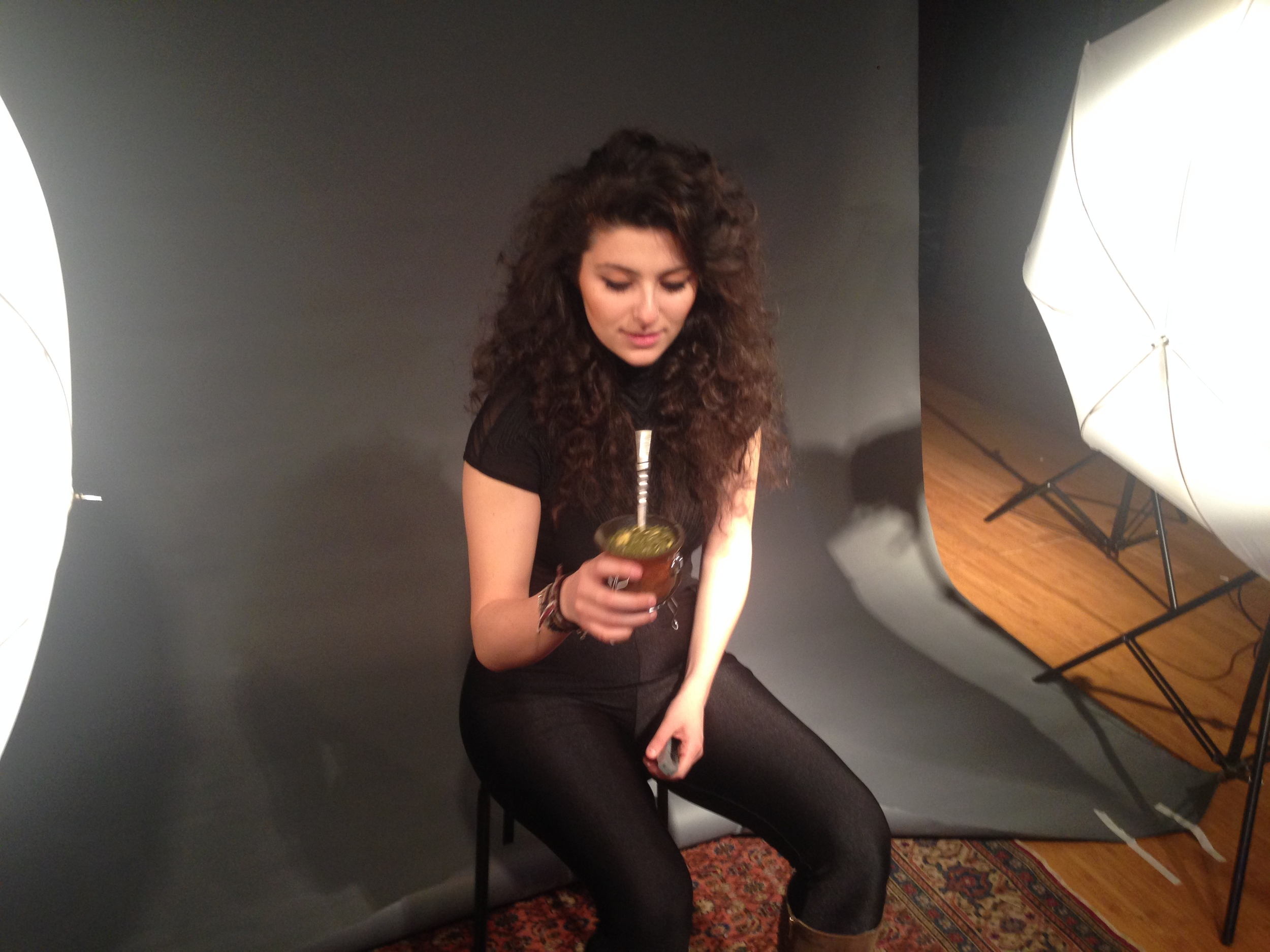 """Drinking mate while recording and shooting the music video for """"The Little Prince"""" for upcoming full length album at Studio 42, Brooklyn."""