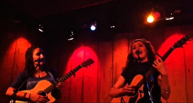 Helen McCreary and Melis Aker, live at Rockwood Music Hall, Stage 3, New York.