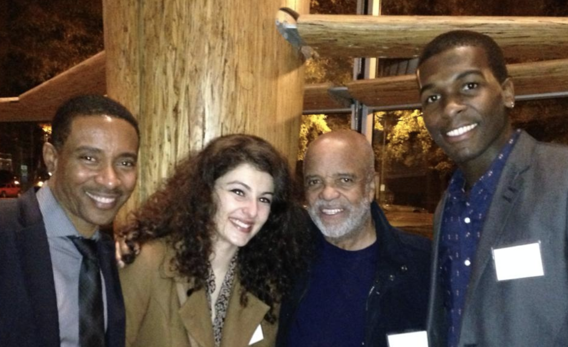 "Charles Randolph-Wright, Melis Aker, Berry Gordy and Khris Davis at Arena Stage's ""Love in Afghanistan"" gala"